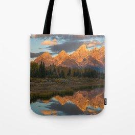 Sunrise On The Snake River Tote Bag