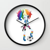 mlp Wall Clocks featuring MLP - Rainbow Dash by Choco-Minto