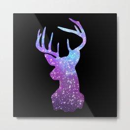Galaxy Deer Metal Print