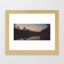 deep hayes sunrise reflection Framed Art Print
