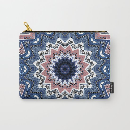 Kaleidoscope .Blue mist . Carry-All Pouch