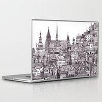 prague Laptop & iPad Skins featuring Prague by Justine Lecouffe