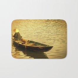 Vietnamese Boat at Sunset Bath Mat