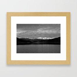 Winter Monochrome Lake Framed Art Print