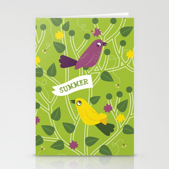 4 Seasons - Summer Stationery Cards