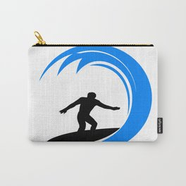 Surfer surfing a huge wave Carry-All Pouch
