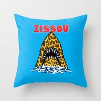 steve zissou Throw Pillows featuring Zissou by Buby87