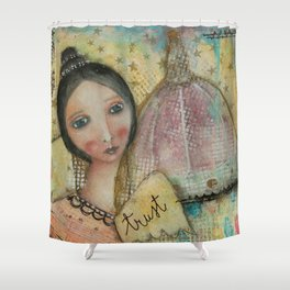Florentine lady and the Brunelleschi dome Shower Curtain
