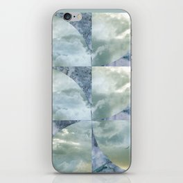 blue grey serendipity day iPhone Skin
