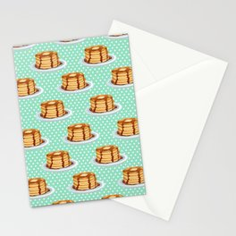 Pancakes & Dots Pattern Stationery Cards