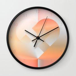 Danish Heart Coral Wall Clock