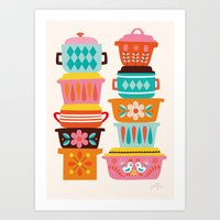 Art Print featuring Pyrex Love by Jolijou