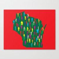 waldo Canvas Prints featuring Waldo, Wisconsin by Project Wisconsin