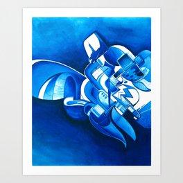 #22 – dipinto di blu… Art Print