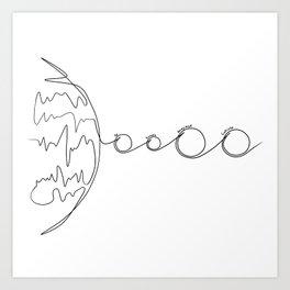 Jupiter and Moons Art Print