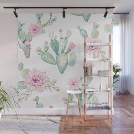 Simply Cactus Rose Wall Mural