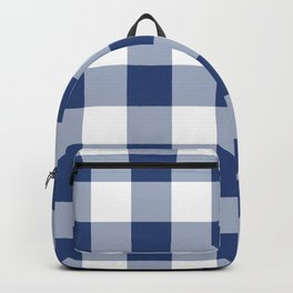 Navy Gingham Pattern Backpack