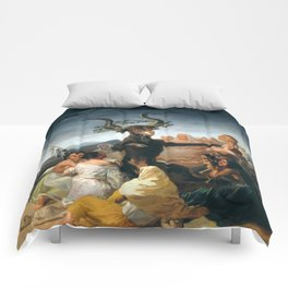 The Sabbath of Witches Goya Painting Comforters