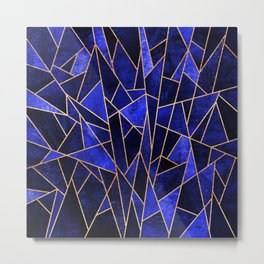 Shattered Sapphire Metal Print