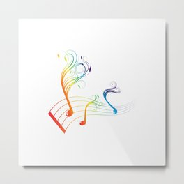 color funny notes Metal Print
