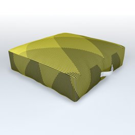 Yellow Ombre Signal Outdoor Floor Cushion