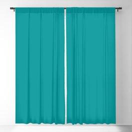 Solid Color Pantone Viridian Green 17-5126 Blue Aqua Blackout Curtain