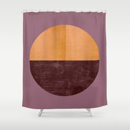 Black and Gold Circle 15 Shower Curtain