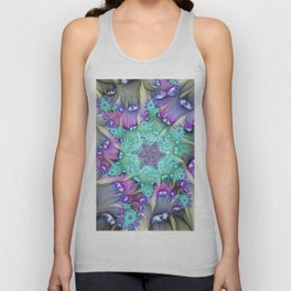 Find Yourself, Abstract Fractal Art Unisex Tank Top