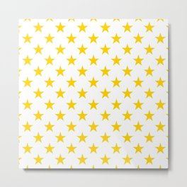 Stars Texture (Yellow & White) Metal Print