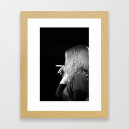 Woman in Jazz Framed Art Print