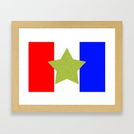 Design4 Red White and Blue Framed Art Print