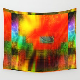 Spectrum Orange Wall Tapestry