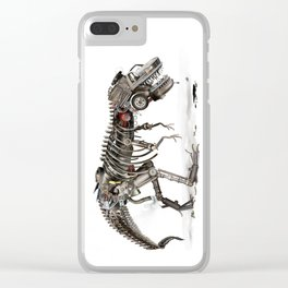 Mechanical T.Rex Clear iPhone Case