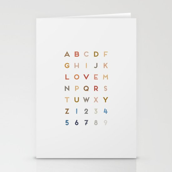 Letter Love - Color Stationery Cards