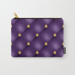 Luxury Tufted Gold Diamond 10 Carry-All Pouch