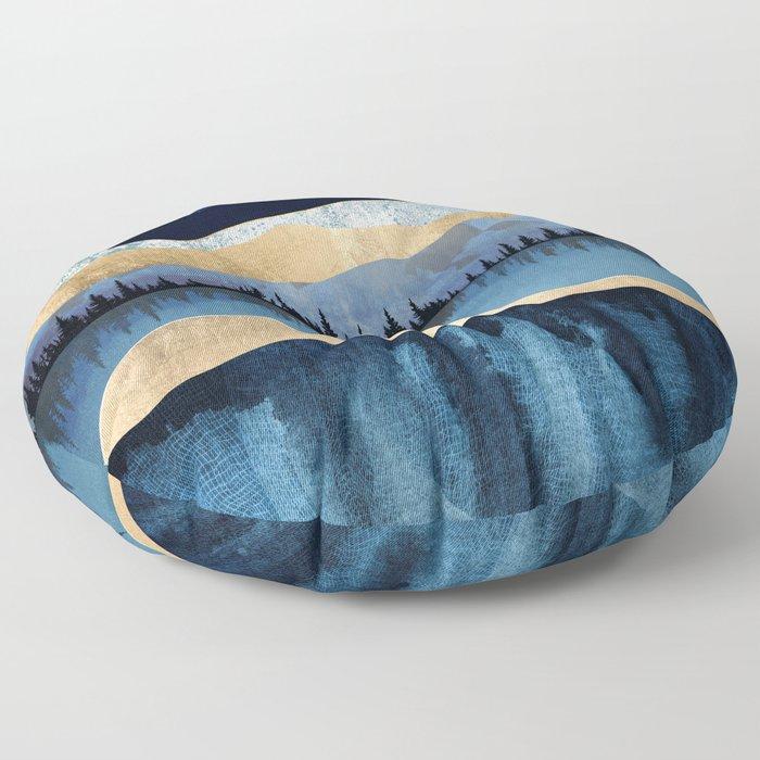 Midnight Lake Floor Pillow