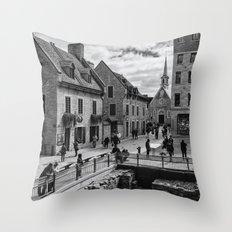 Old Quebec City Throw Pillow