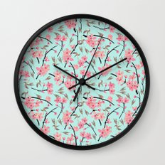 Cherry Blossom Pattern(sky) Wall Clock