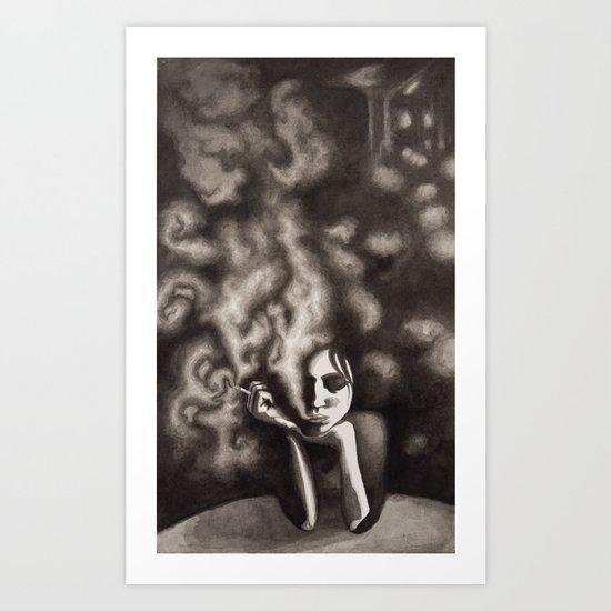 Composition in Black Art Print