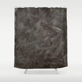 Black And White Brushstrokes Minimalism Abstract Pattern Modern Art - Corbin Henry Shower Curtain