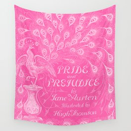 Pride and Prejudice - Hot Pink Wall Tapestry