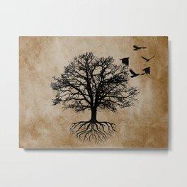Tree of Life - Crow Tree Modern Farmhouse Decor A823 Metal Print