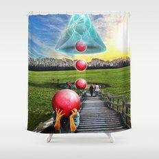 Interspatial Field Shower Curtain