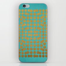 Gold Dots on Turquoise iPhone & iPod Skin