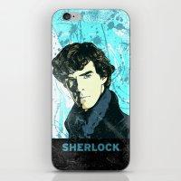 sherlock holmes iPhone & iPod Skins featuring Sherlock Holmes by illustratemyphoto