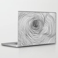 tree rings Laptop & iPad Skins featuring Abstract Tree Rings by Michael James