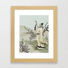 Chinese poet Framed Art Print