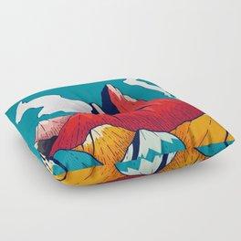 Smoke trail mountains Floor Pillow