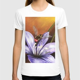 Fly on flower 10 T-shirt
