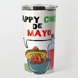 Happy Cinco De Mayo Mexican Fiesta graphic Travel Mug